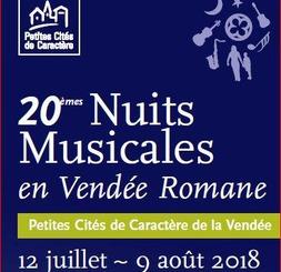 Festival des NUITS MUSICALES EN VENDÉE ROMANE